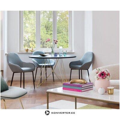 Black round dining table (magis design)