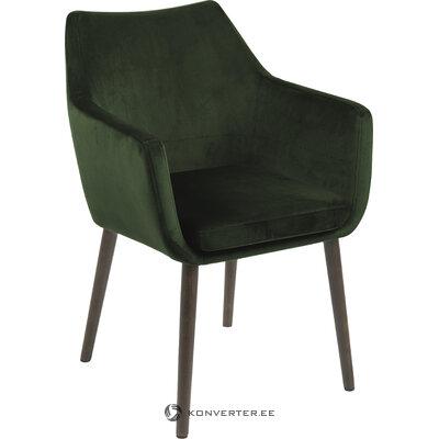 Темно-зеленое бархатное кресло nora (actona)