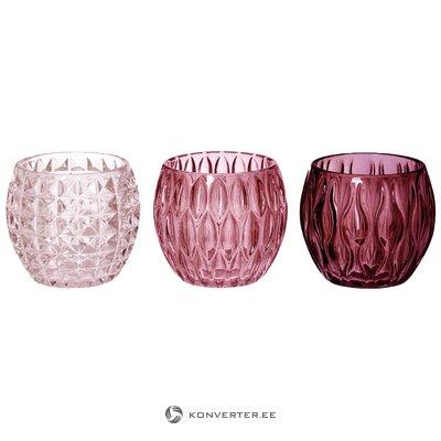 Žvakidžių laikiklių rinkinys Aliza 3 dalių (boltze)