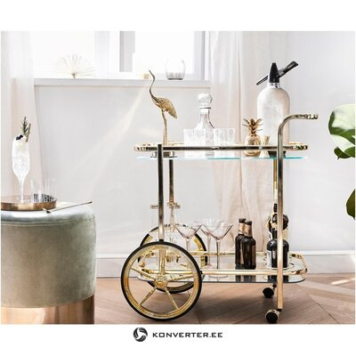 Golden serving trolley (heinz hofmann) (whole, in box)