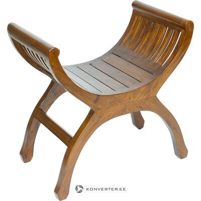 Masīvkoka dizaina krēsls (pons) (nelieli trūkumi zāles paraugs)