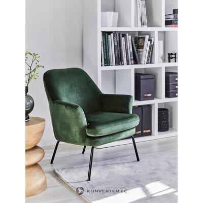 Vihreä samettinen nojatuoli Chisa (Actona)