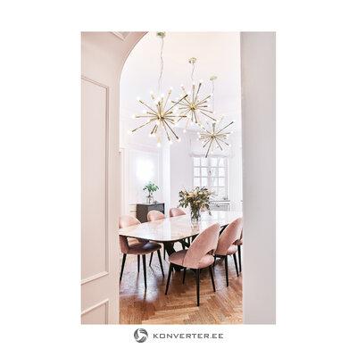 Золотой подвесной светильник шип (андерсон)
