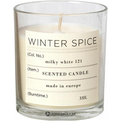 Scented candle winter (broste copenhagen) (whole, hall sample)