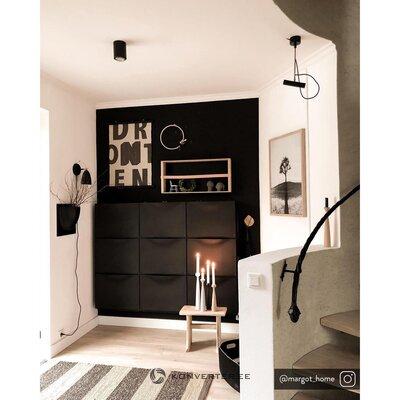 Черный потолочный светильник roda (sollux)