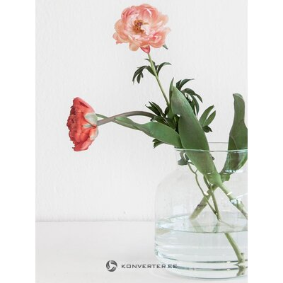 Glass flower vase (urban nature culture) (whole, in a box)