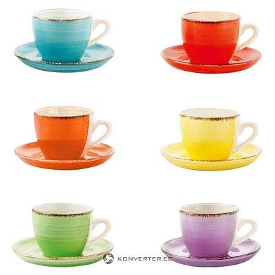 Kavos puodelių rinkinys 6 vnt. Batų (vilnos)
