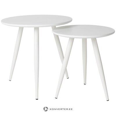 Белый журнальный столик colette (white labe)