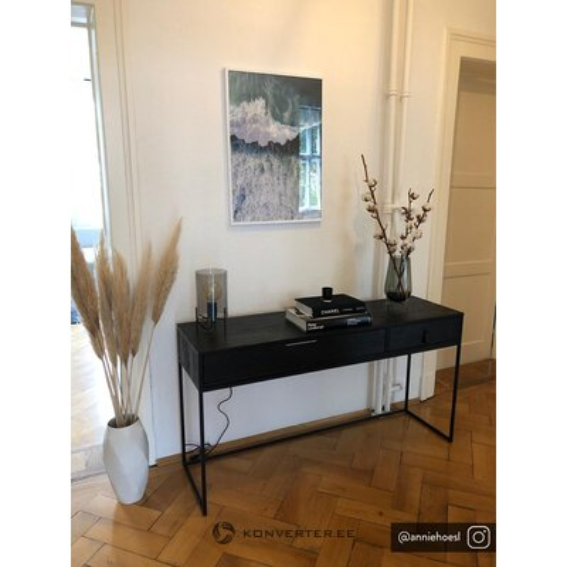 Melns masīvkoka konsīlija galds (woood)