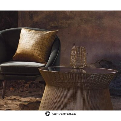 Pyöreä sohvapöytä vic (zago) lasipinnalla (salinäyte vikoilla)