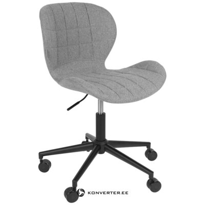 Pilka biuro kėdė omg (zuiver) (su grožio klaida, salės pavyzdys)