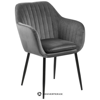Gray-black velvet chair emilia (actona) (sample)