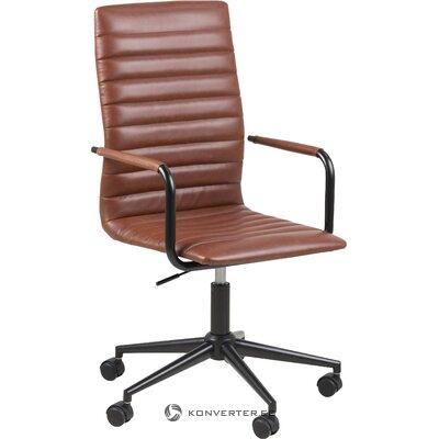 Brūns ādas biroja krēsls (winslow) actona