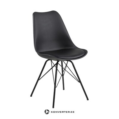 Black leather chair (actona) (with beauty defects. Hall sample)