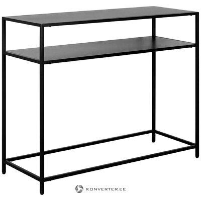 Black metal console table (actona)