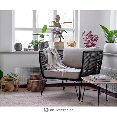 Melns dizaina dārza krēsls (Bloomingville)