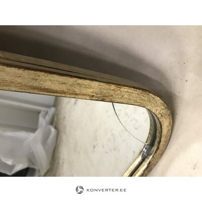 Mirror with gold frame (gallery direct) (with flaw hall sample)