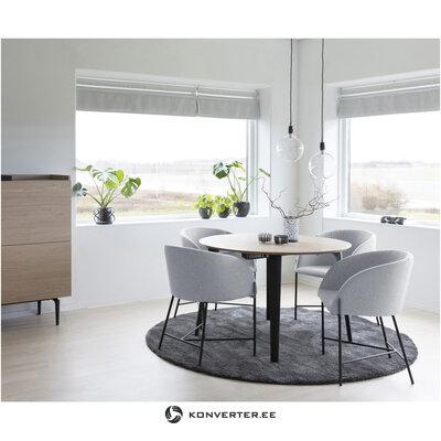 Light gray-black chair (interstil dänemark) (with strong beauty defects hall sample)