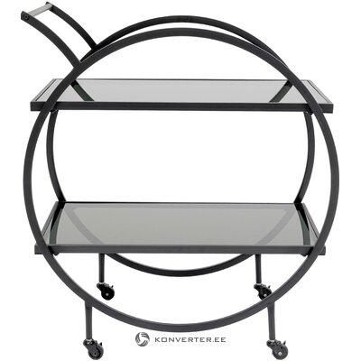 Black serving trolley loft (rough design)