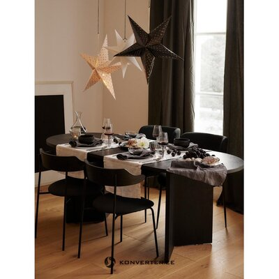 Dark gray-black chair olympia (la forma) (healthy sample)