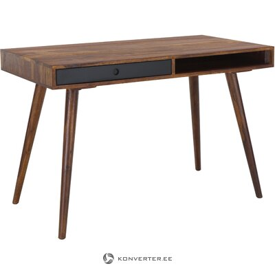 Dark brown solid wood desk repa (skyport)