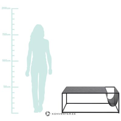 Black coffee table seaford (actona)