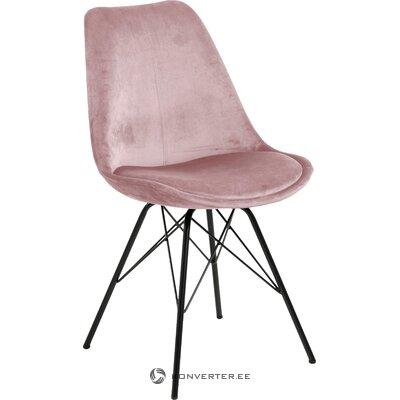 Pink velvet chair eris (actona)