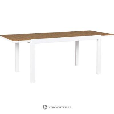 Balts pagarināms dārza galds elias (bizzotto)
