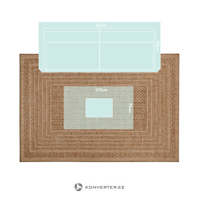 Beige-brown carpet (bougari) (whole, in a box)