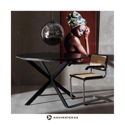 Melni smilškrāsas krēsls (ixia) (ar skaistuma defektiem., Zāles paraugs)