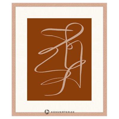 Sienas attēls terakotas zīmējums (liv corday)