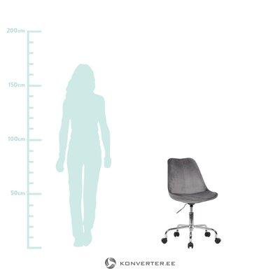 """Tamsiai pilka aksomo biuro kėdė (""""skyport"""") (visa, dėžutėje)"""