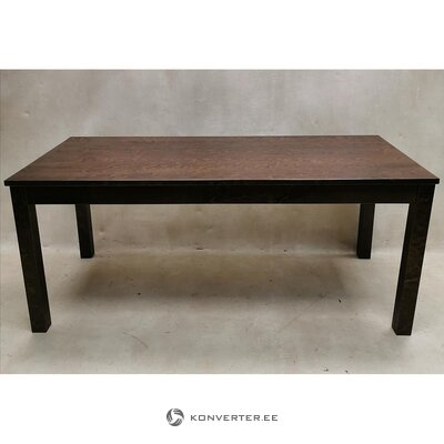 Walnut brown solid wood dining table (wenla) (whole, in box)