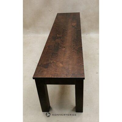Riešutmedžio rudos masyvios medienos suolas (wilma) (visas, laimikio pavyzdys)