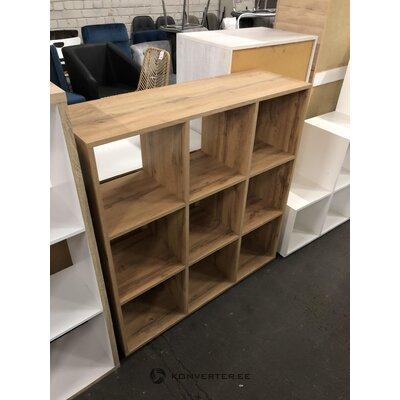 Brown 9-piece shelf