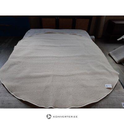 Beige pyöreä matto