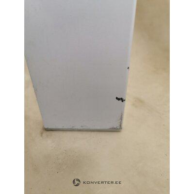 Valge Metallist Söögilaud Karastatud Klaasiga (150x70)
