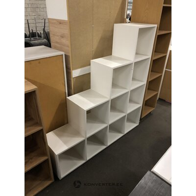 White separate 10-part shelf