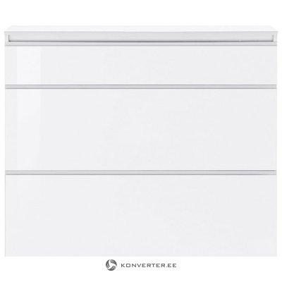 Белый глянцевый шкаф для обуви (весь, в коробке)